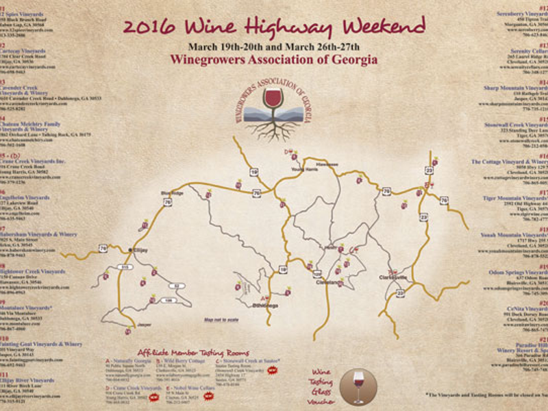 11th Annual Wine Highway Weekend | Georgia Mountain Laurel ... on franklin county, appalachian mountains, harris county, historic south, atlanta metropolitan area, madison county, georgia elevation map, georgia swamps map, inland empire, georgia lakes map, stephens county, gilmer county, georgia river map, brasstown bald, gwinnett county, georgia rain map, georgia upper coastal plain map, georgia settlements map, georgia backroads map, georgia mtn map, northeast georgia map, georgia creeks map, georgia fishing map, georgia regions map, southern rivers, blue ridge mountains, stone mountain, north georgia map, jefferson county, warner robins, georgia swamp water, georgia mountain towns, georgia springs map, atlanta map, georgia foliage map, georgia and russia map, putnam county, north georgia,