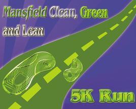 Medium mansfield clean green and lean 5k run logo