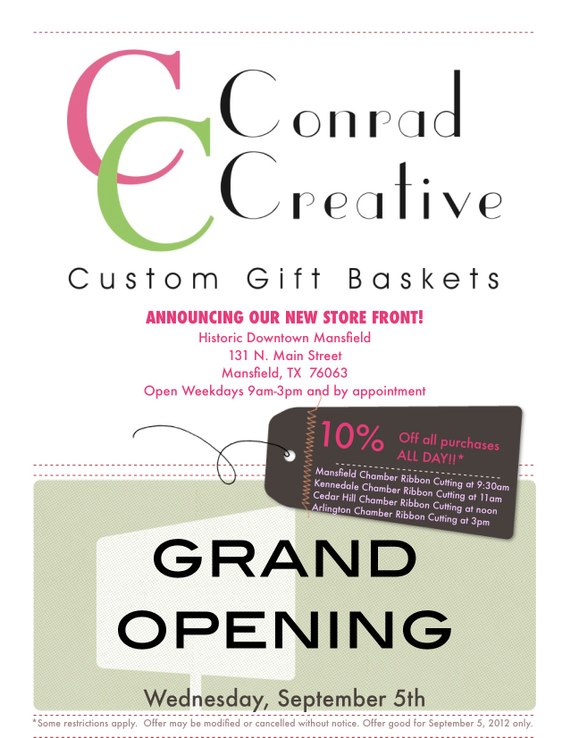 conrad creative custom gift baskets grand opening
