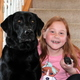 Maple Grove third grader Leah Rimstad with her pets Shady and Oreo Photo by Wendy Erlien