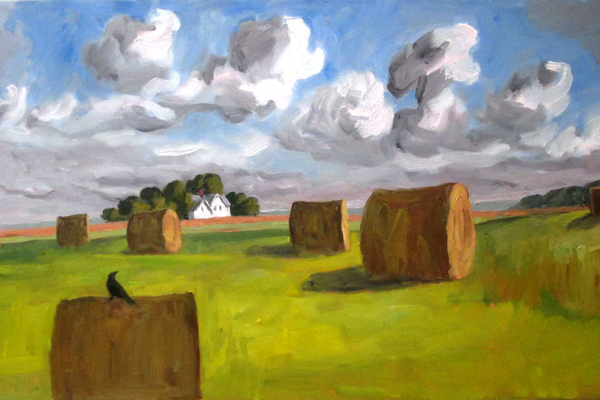 'Field With Hay Bales, Late Summer' by John Sauers.