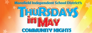 Thursdays in May Community Nights - start May 12 2016 1100AM