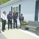 Members of the Bellingham Fire Department shown at the bench-dedication ceremony (L-R) are Chief Steve Gentile, Deputy Chief Mark Poirier, Captain Joe Robidoux, Joe Manning, Lieutenant Greg Prew and Bethany Cloutier.