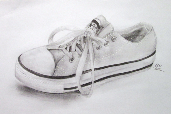 'Converse Shoe,' a drawing by Penn's Grove eighth grader Cecilia Muscella.