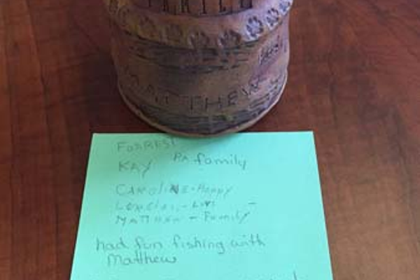 Clay pot created by aphasia patient