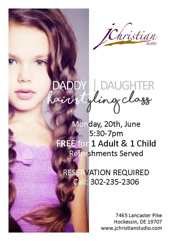Daddy 20daughter 20hairstyling 20class 20with 20border
