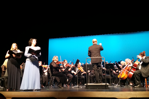 Soloists Stania Shaw and Doris Brunatti perform with the American West Symphony. —Kelly Cannon