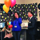 """Melinda Mansouri accepts a gift from the Jordan Education Foundation as they name her one of their """"Outstanding Educators"""" for 2016. – Jordan School District"""