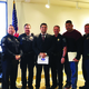 Two police labor organizations present Saul Ramos-Ortega with a $500 scholarship. – Tori La Rue