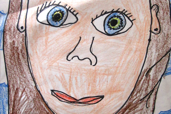 This self-portrait was done in first grade.
