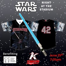 Star Wars Night at the Intimidators - start Jun 25 2016 0705PM