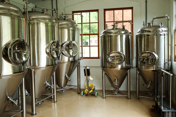 Just some of the brewing technology that will be used at the Dew Point Brewing Company.