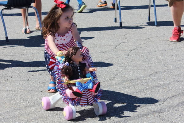 Lillian Carr won the Doll Carriage Decorating Contest. (Alexis Margios photo)