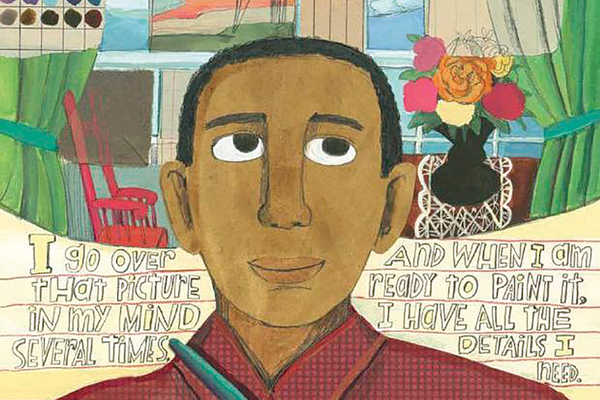 Illustration by Melissa Sweet for 'A Splash of Red: The Life and Art of Horace Pippin,' written by Jen Bryant (Knopf Books for Young Readers, 2013)