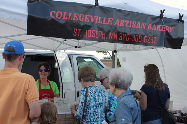 Collegeville Artisan Bakery of St. Joseph at the Maple Grove Farmers Market June 30, 2016.