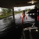 The parking ramp at the Maple Grove Library was flooded following the July 5, 2016 storm.