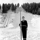 The first jump at Howelsen Hill was built in 1914 at Elk Park, a former small game reserve. The area was renamed after Carl Howelsen, who brought ski jumping to Steamboat Springs. Many have followed his lead, including this jumper circa 1953. Photo courtesy Tread of Pioneers Museum.