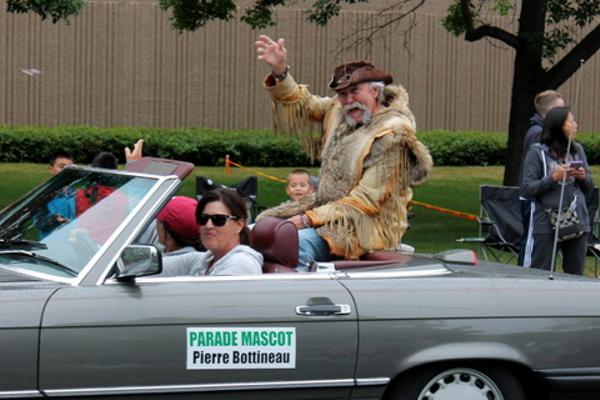 Pierre Bottineau at the 2016 Maple Grove Days Pierre Bottineau Parade along 89th Avenue Thursday, July 14