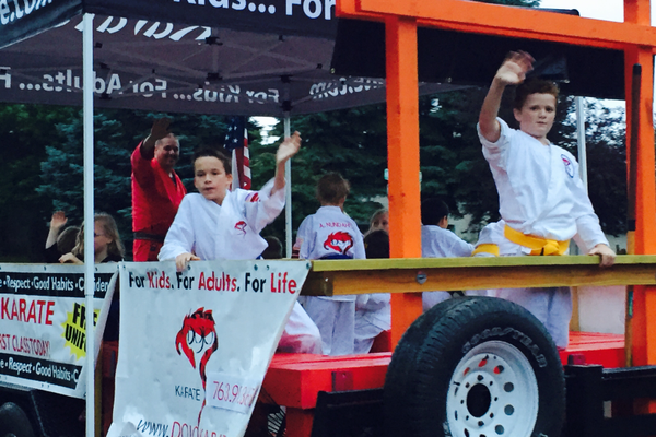 Dojo Karate at the 2016 Maple Grove Days Pierre Bottineau Parade along 89th Avenue Thursday, July 14