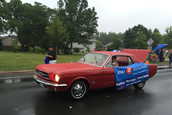 BMO Harris Bank at the 2016 Maple Grove Days Pierre Bottineau Parade along 89th Avenue Thursday, July 14