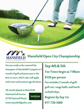 Mansfield Open City Championship - start Sep 04 2016 0700AM