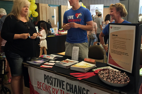 Thrivent Financial at the Maple Grove Days Business Expo 2016. (photo by Wendy Erlien)