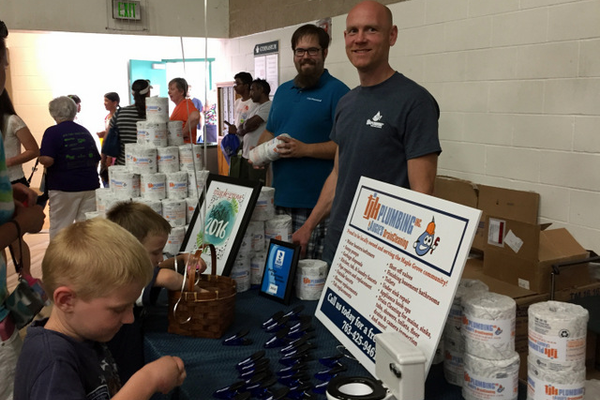 TJK Plumbing at the Maple Grove Days Business Expo 2016. (photo by Wendy Erlien)