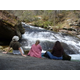 Taking a break at Panther Creek Falls.