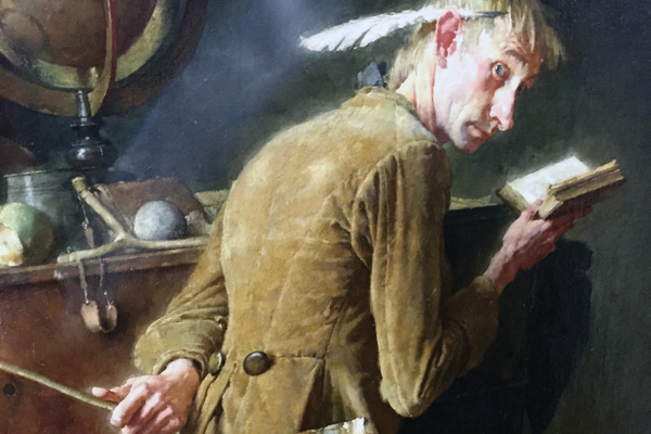 "This detail of ""Ichabod Crane"" by Norman Rockwell is the prize piece of Draper Elementary's art collection that began in the 1920s. This painting was added by the class of 1951, who saved money from their farm chores, held bake sales and received donations from the community to purchase it for $800. It now hangs in the school library. — Julie Slama"