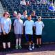 Liam Nation First pitchers and their volunteers! Melle, Sam, Aidan, Joe and Wil!