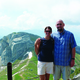 Erica and Kevin Wright at the top of Mount Pilatus near Lucerne Switzerland on this years trip
