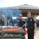 Maple Grove Chief of Police Eric Werner right and Captain of Patrol Dan Wills left grill lunch for community members at the 2016 National Night Out Kick Off Aug 2 photo by Wendy Erlien