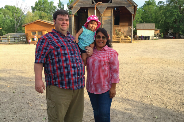 Spencer, Mali and Eva Landreth spend family time at historic Wheeler Farm. Photo by Alisha Soeken