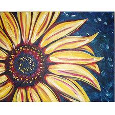 Medium paintandsip sunflower