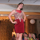 Emma L. models clothes from Rubi Jubi during the annual Back-to-School Fashion Preview Aug. 17, 2016 at the Maple Grove Community Center. (Photo by Wendy Erlien