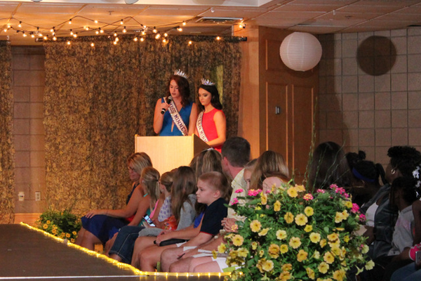 Back-to-School Fashion Show emcees for the Back-to-School Fashion Show were  Miss MN International and Miss Teen MN International. (Photo by Wendy Erlien)