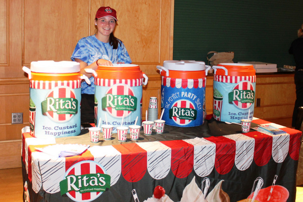 Rita's Ice refreshments during the annual Back-to-School Fashion Preview Aug. 17, 2016 at the Maple Grove Community Center. (Photo by Wendy Erlien)