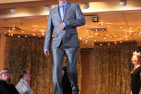 Doug O. models clothes from Express during the annual Maple Grove Fashion Flair August 18, 2016 at the Maple Grove Community Center. (Photo by Doug Erlien)