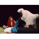 Scuttle, played by Kurt Christensen, tries to find a heartbeat on Prince Eric, played by Russell Maxfield, while Ariel, played by Ali Wood, looks on. —Sean Buckley