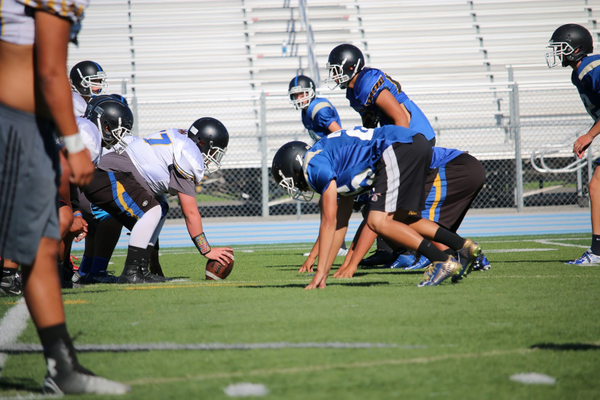 The Taylorsville Warriors gear up for the 2016 season with a scrimmage game at their high school. –Aryana Apelu