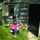 A father and daughter visit the dugout outside the museum. —Mylinda LeGrande