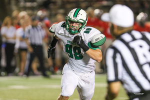 Southlake Carroll Defensive Lineman Luke Jeter is part of an unprecedented group of talented returning seniors on the Dragon defensive unit