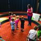 Teresa Mcleod leading children in the Stop in for Stories program. -Alisha Soeken