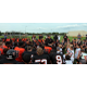 Head Coach Ryan Stockhaus addresses the Osseo football program on OFA Showcase Friday (Photo By:Doug Erlien)
