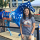 Gabree Torres and her Spirit Horse at UTA. Photo courtesy of Park Place Dealerships.