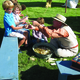 Kids learn to make small figures at the Wild West Roundup on July 16. –Travis Barton