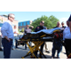 The Sandy City Fire Department shows off the Stryker bariatric stretcher, capable of lifting 700 pounds and part of the newest ambulance in the department fleet, to the Sandy City Council during an update meeting and tour held in lieu of a council meeting on Aug. 23, 2016, on the south side of Sandy City Hall. (My City Journals/Chris Larson)
