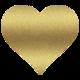 Thumb gold heart clipart 11
