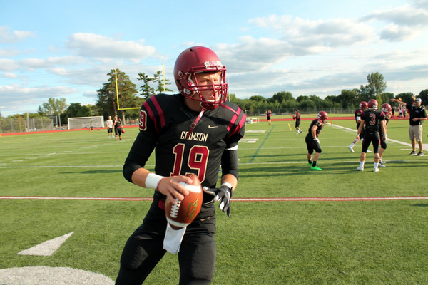 Crimson senior quarterback Brad Davison has thrown for over 1,000 yards and 10 touchdowns in eight playoff starts.