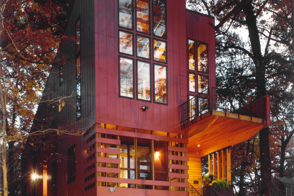 The Perch House in Takoma Park, Md., was designed to maximize its views.